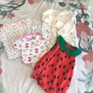 Newborn and 3 month girl bundle